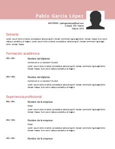 Plantilla de curriculum: plantilla cronológica 6