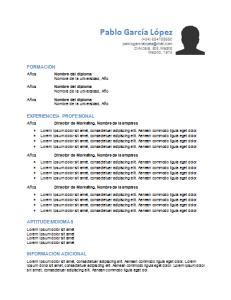 Plantilla de curriculum: plantilla cronológica 7