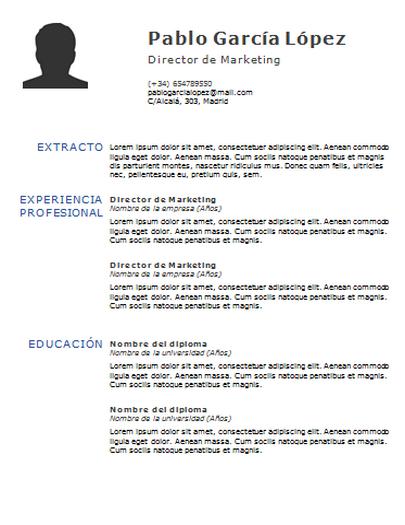 Plantilla de curriculum: plantilla cronológica 9