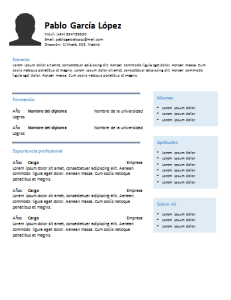 Plantilla de curriculum: plantilla cronológica 4