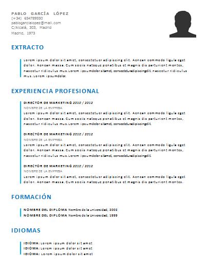 Plantilla de curriculum: Plantilla funcional 5