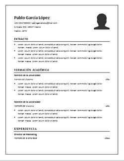 el curriculum vitae es un documento a travs del cual un solicitante de trabajo resume en un documento su formacin experiencia laboral y otros datos - Como Hacer Un Resume Para Trabajo