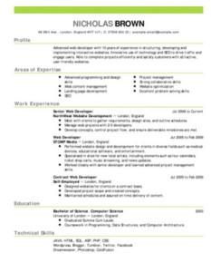 curriculum americano 1