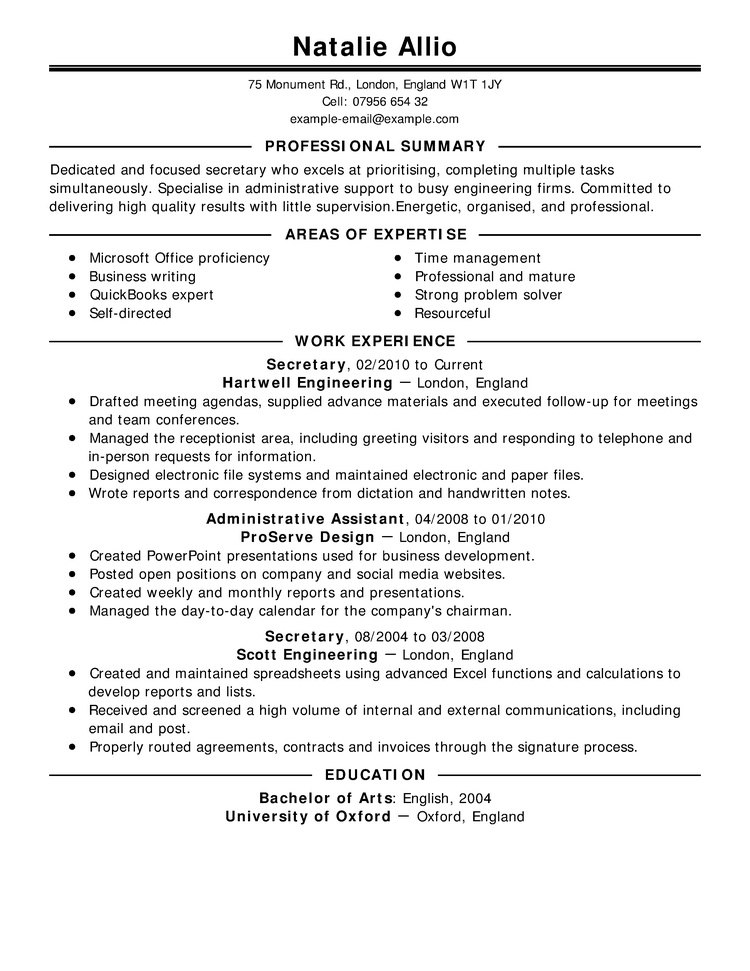 curriculum-en-ingles-ejemplo-2 Sample Cover Letter For Attachment Application on